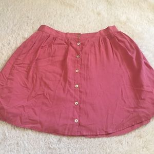 Forever21 pink button up skirt